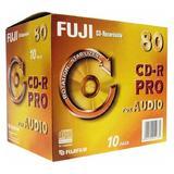 10x Jewelcase FUJIFILM CD-R Pro 80 for Audio