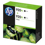 HP 920XL Doppelpack schwarz, hohe Kapazität (D8J47AE)