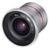 Samyang 12mm F2.0 NCS CS für Fuji X silber (1220510102)