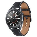 Samsung Galaxy Watch 3 LTE 45mm mystic-black mit Lederarmband (SM-R845FZKAEUB)
